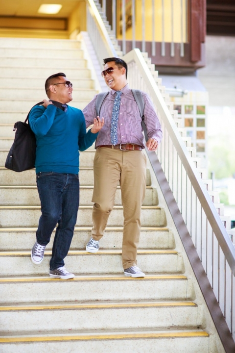 BART Gay Engagement photography