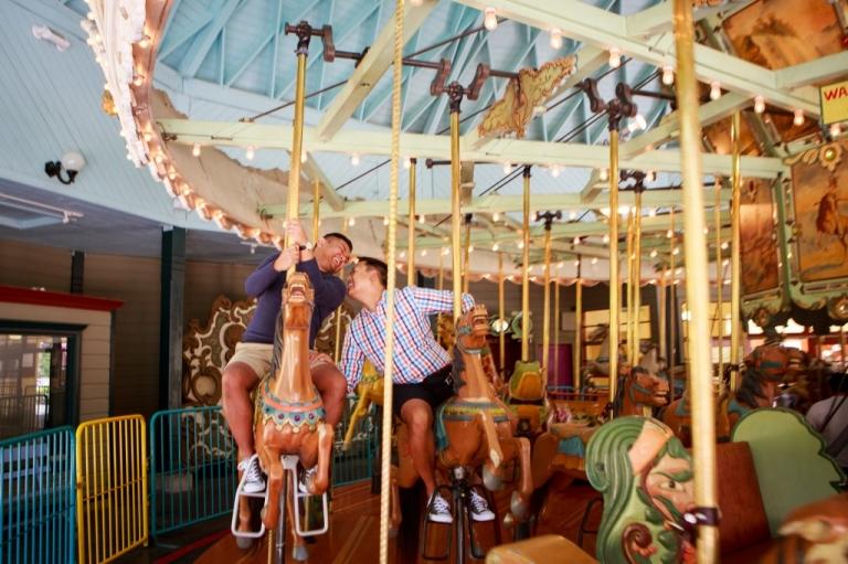 Merry-Go-Round Tilden Park Gay Engagement
