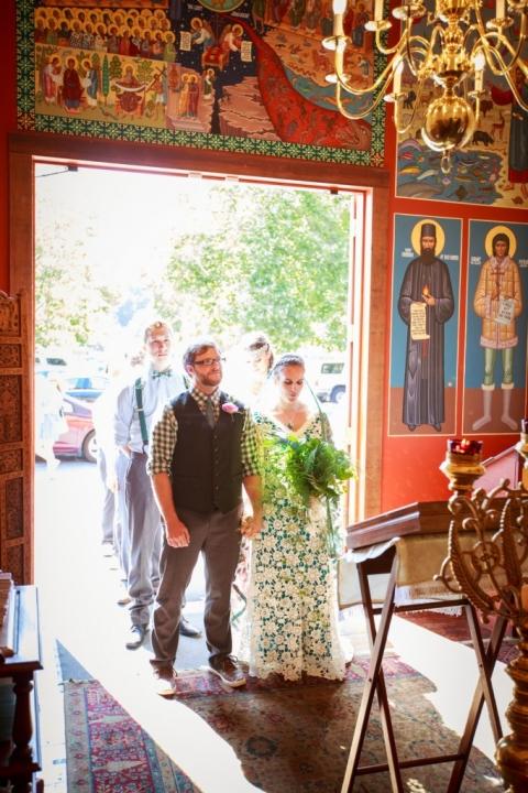 Christian Orthodox wedding entrance