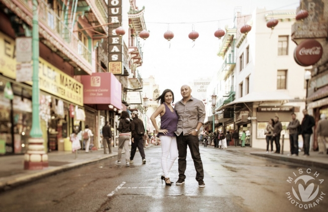 SF Chinatown engagement
