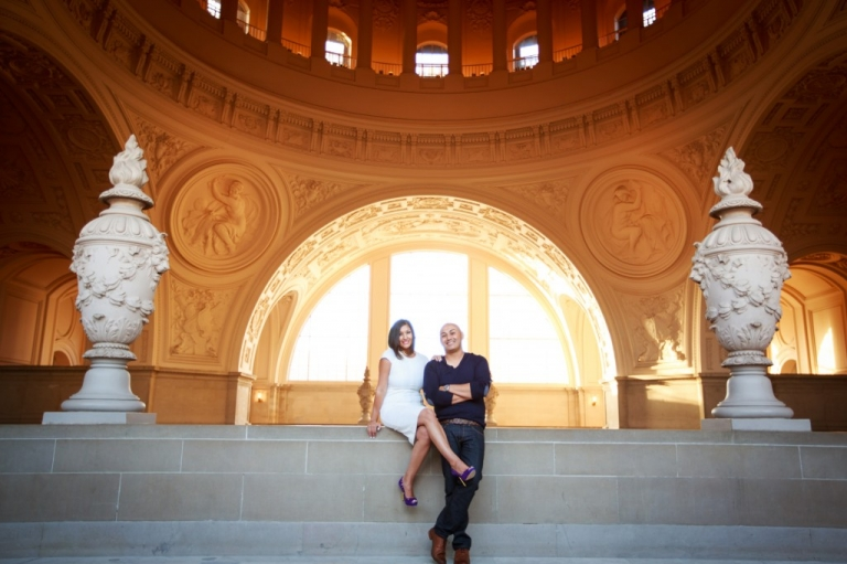 SF City Hall engagement
