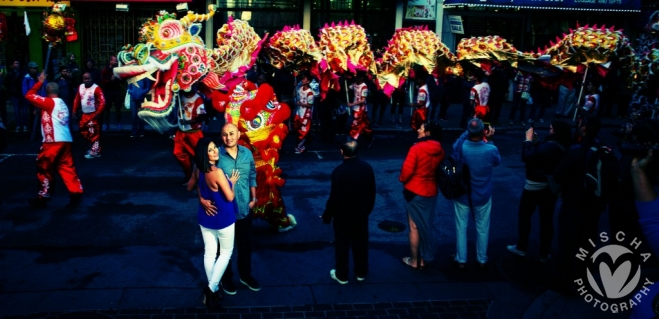 Chinatown dragon engagement