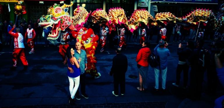 Chinatown dragon engagement