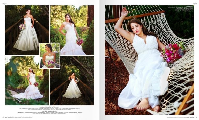 Real Weddings Magazine spread Lake Tahoe