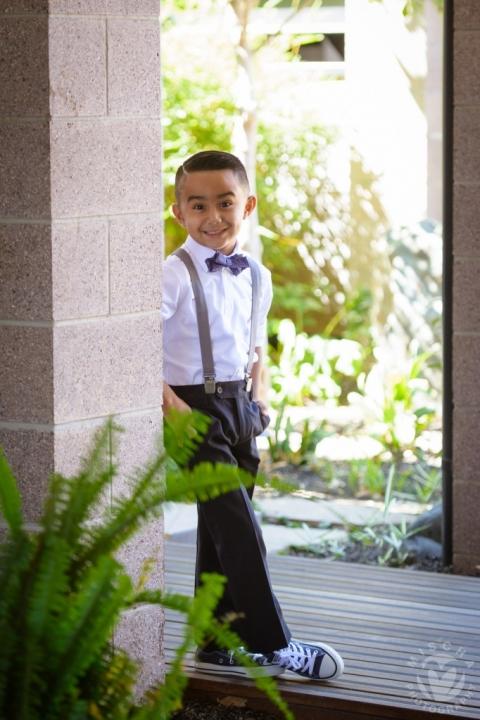 cute kid bow tie suspenders