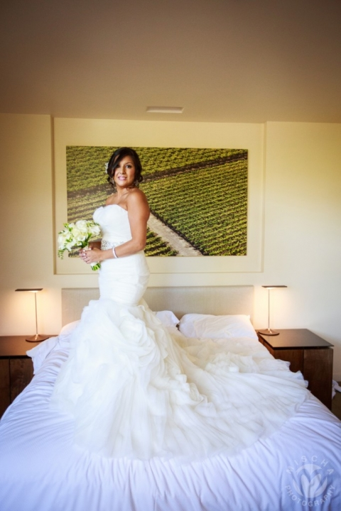 bride at bardessono