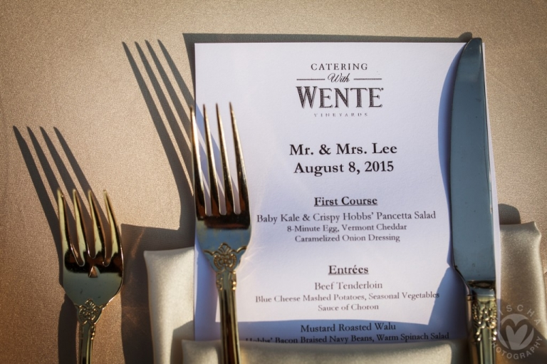 Wente Winery wedding details