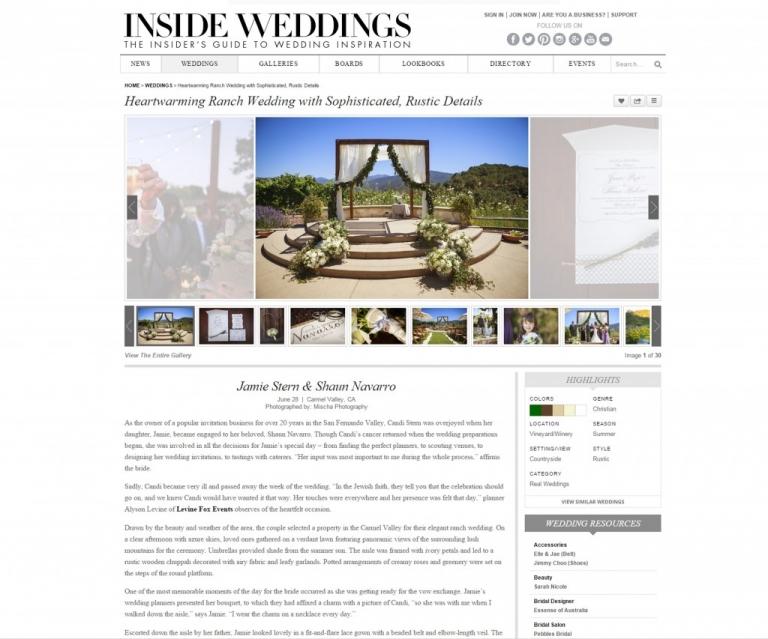 Inside weddings screenshot