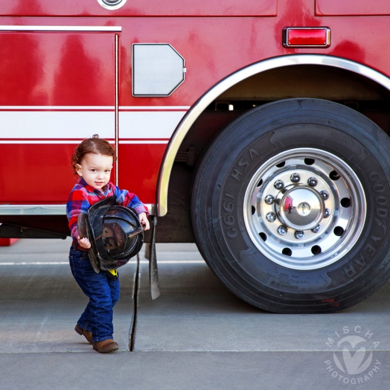 fire engine themed toddler shoot