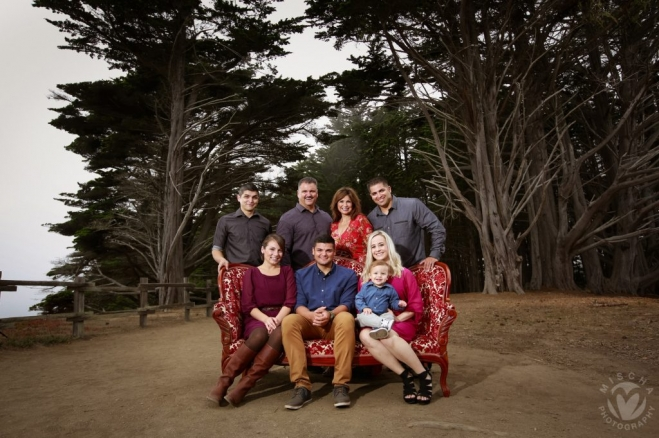 Half Moon Bay extended family portrait