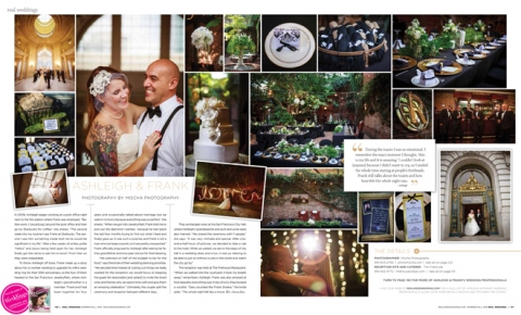 Mischa photography Published in Real Weddings
