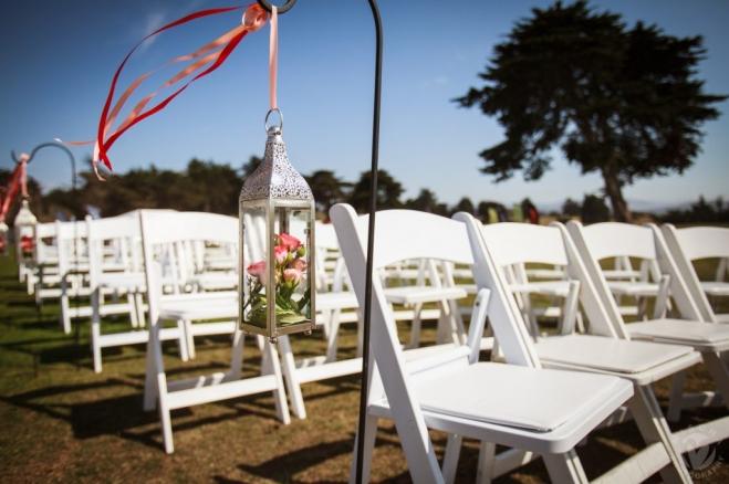 Seaside golf course wedding