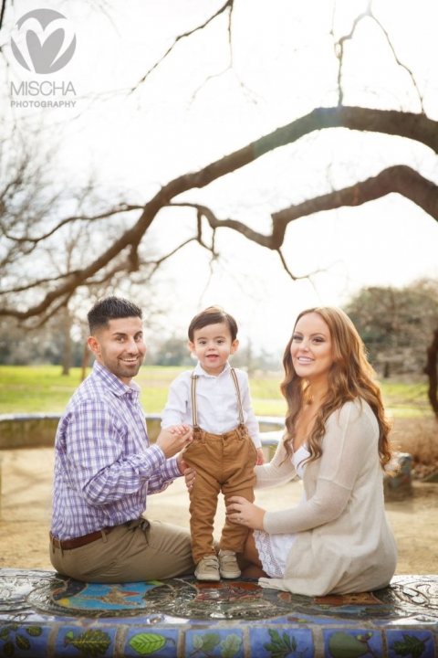 Sacramento family engagement portrait