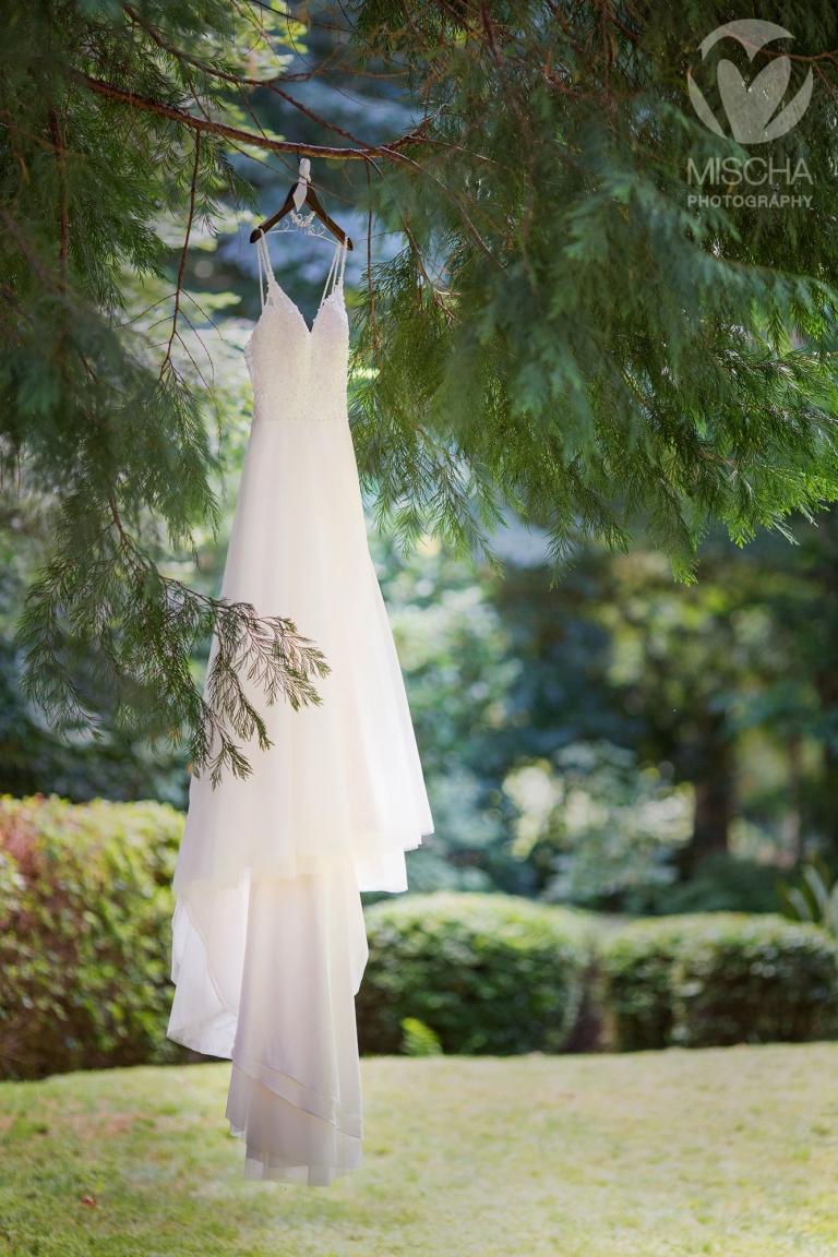 outdoor river wedding dress