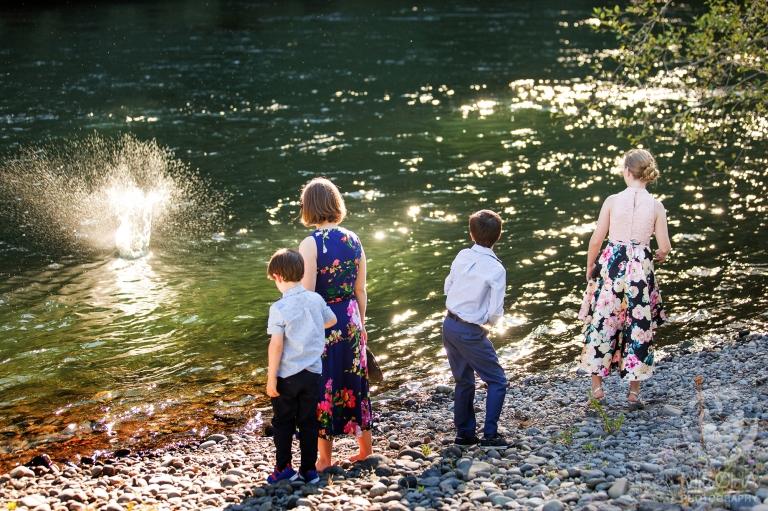Outdoor river wedding